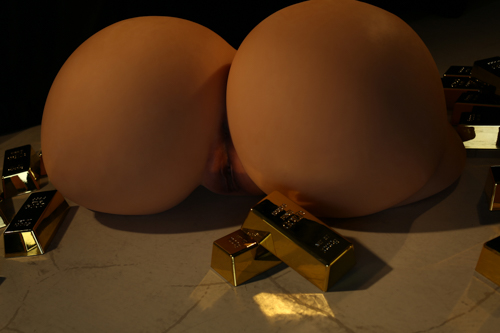 Torso R3 Gold big butt(74cm width) super fat big ass sex doll